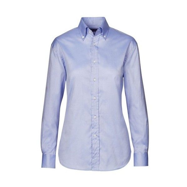 Ralph Lauren Collection Cameron Cotton Oxford Shirt ($650) ❤ liked on Polyvore featuring tops, blouses, blue, button up top, oxford button down shirts, button up shirts, blue oxford shirt and blue button-down shirts
