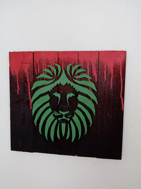 Lion - Wood Picture
