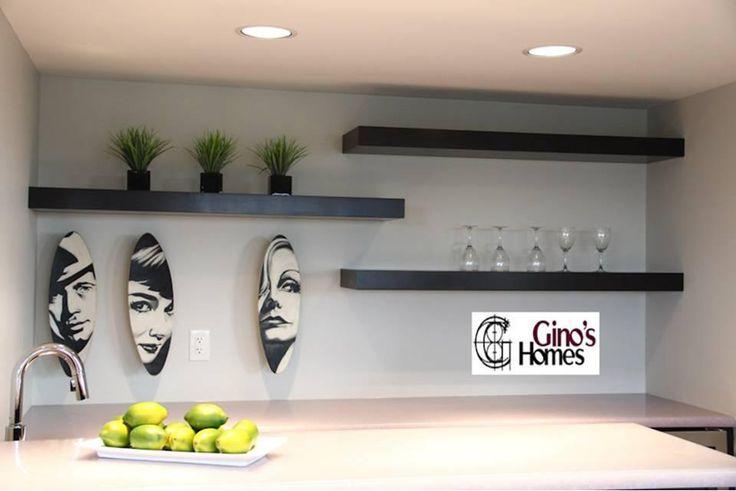Floating Shelves Above Bar Basements Pinterest
