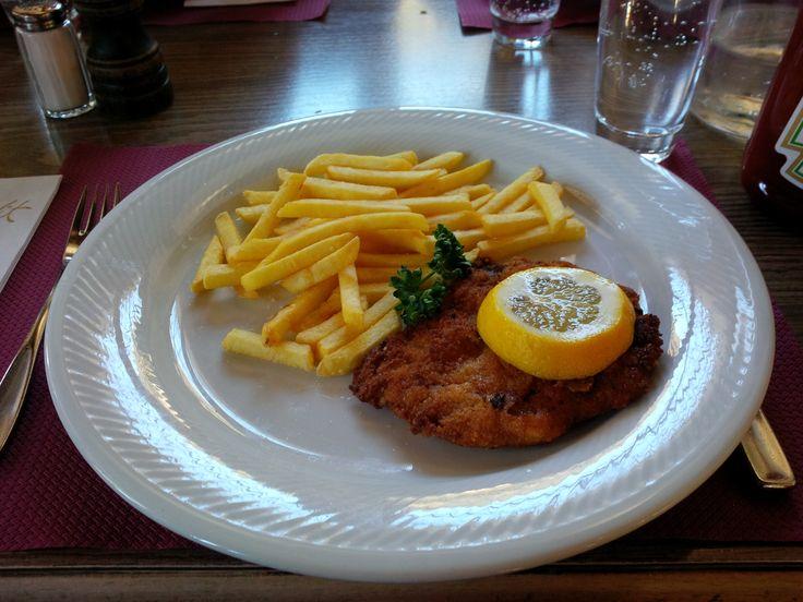 Schnitzel with French Fries @ Restaurant Belfort