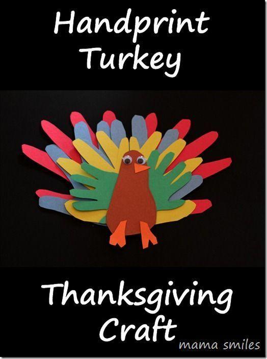 Handprint Turkey Thanksgiving Craft