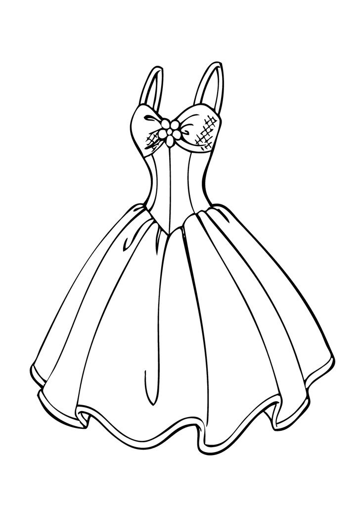 free dresses coloring pages - photo#3