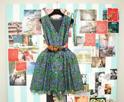 The Coveteur | Aurelie Bidermann. Dress, Balenciaga; Belt, Vintage