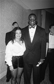 REBBIE JACKSON WITH HER HUSBAND NATHANIEL BROWN 1994 ...