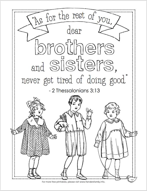 coloring pages brothers and sisters Since today is National Siblings Day, I thought I'd share a  coloring pages brothers and sisters