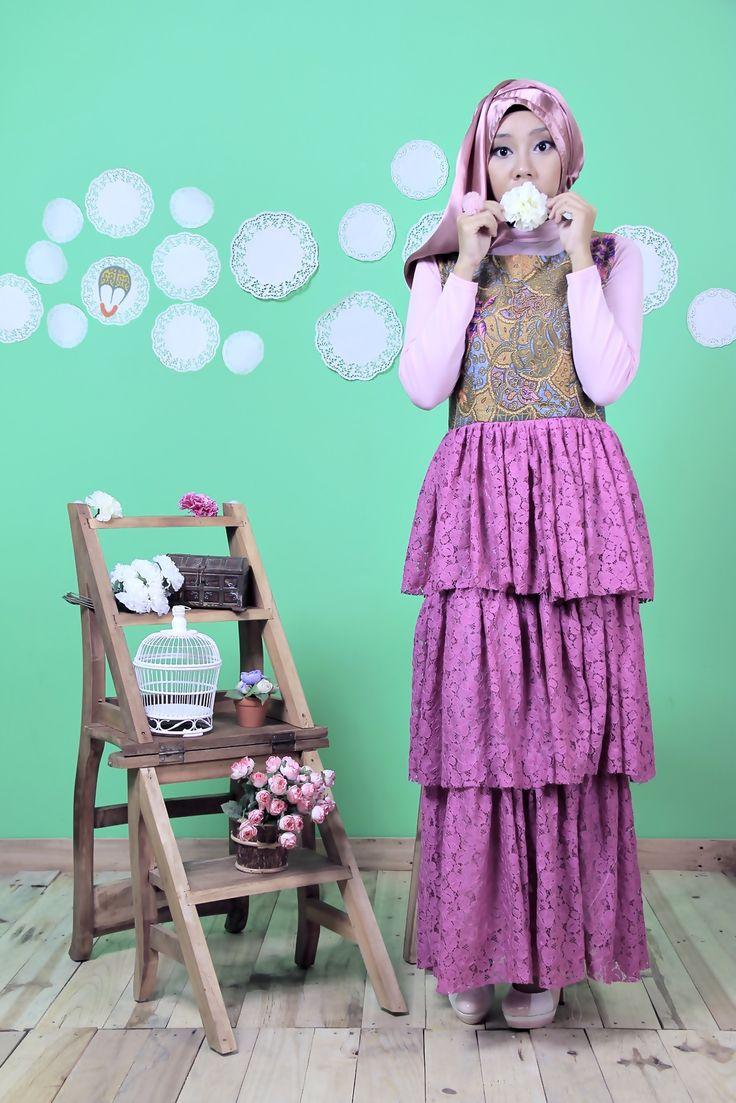 batik and lace dress | Midodareni Wungu Dress | DhieVine | Redefine You
