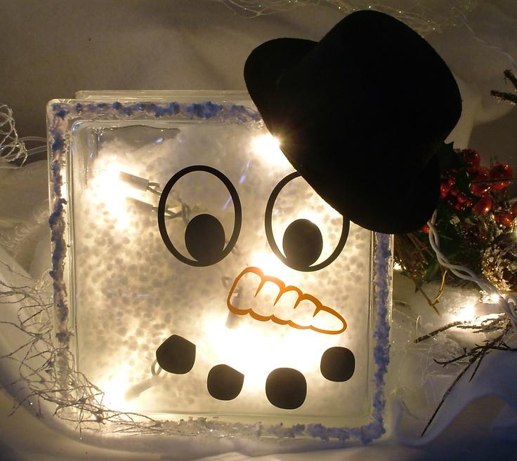 Glass Block Ideas : Glass Block ideas  Heads Up  Pinterest  Glass Blocks, Snowman and ...