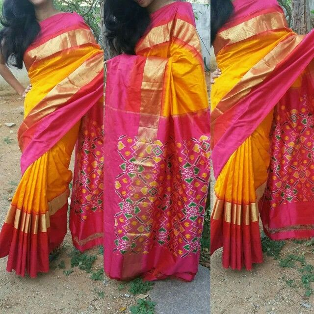 Pochampally ikat patola silk saree