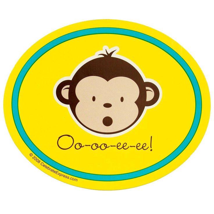 Mod Monkey Stickers from BirthdayExpress.com