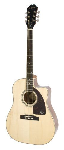 Save $ 121.5 order now Epiphone AJ-220SCE Acoustic Electric Guitar, Natural at C