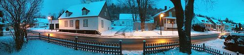 Snowy morning up in a town east of Quebec City