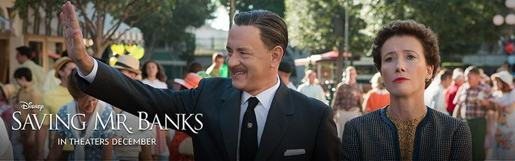 "Click to watch the trailer for the upcoming ""Saving Mr. Banks"". Seriously STOKED for this movie"