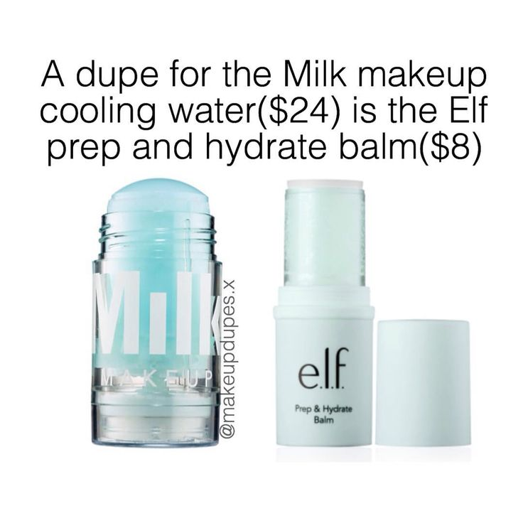 Milk makeup cooling water dupe Elf prep and hydrate balm
