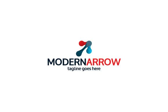 Modern Arrow Logo Template by Shaoleen on @creativemarket