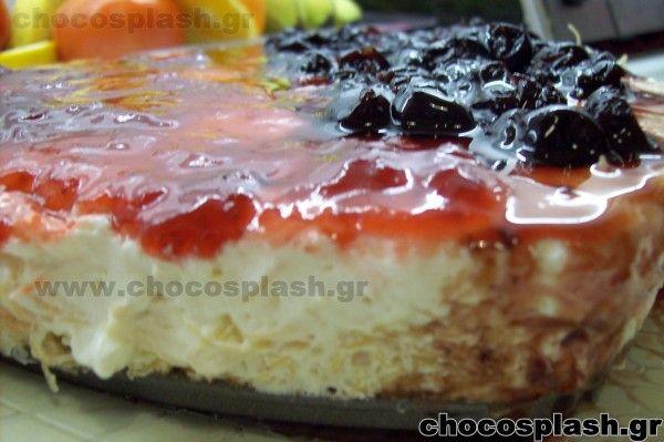 CHEESE CAKE ΜΕ ΚΑΝΤΑΪΦΙ  Ή μήπως εκμέκ με κρέμα cheese cake
