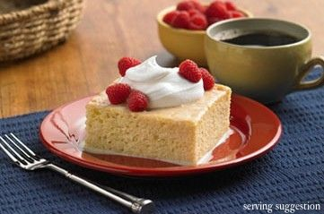 Tres Leches Cake with Rompope  An eggnog-like drink, Rompope can easily be found at a Mexican market. To make a non-alcoholic cake, simply use an extra cup of sweetened condensed milk in place of rompope.