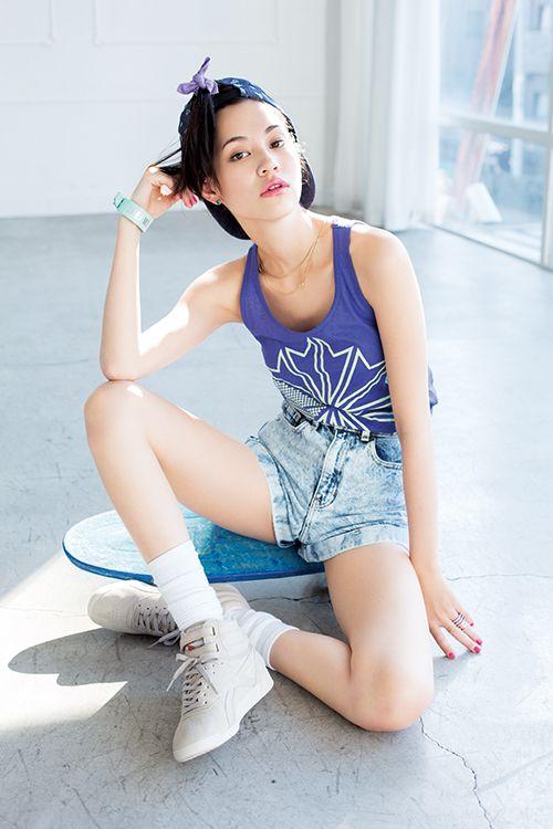 水原希子のストリートファッション。格好良さ重視タイプのストリート系女の子におすすめのコーデ☆ 参考にしたいスタイル・ファッションのアイデア☆
