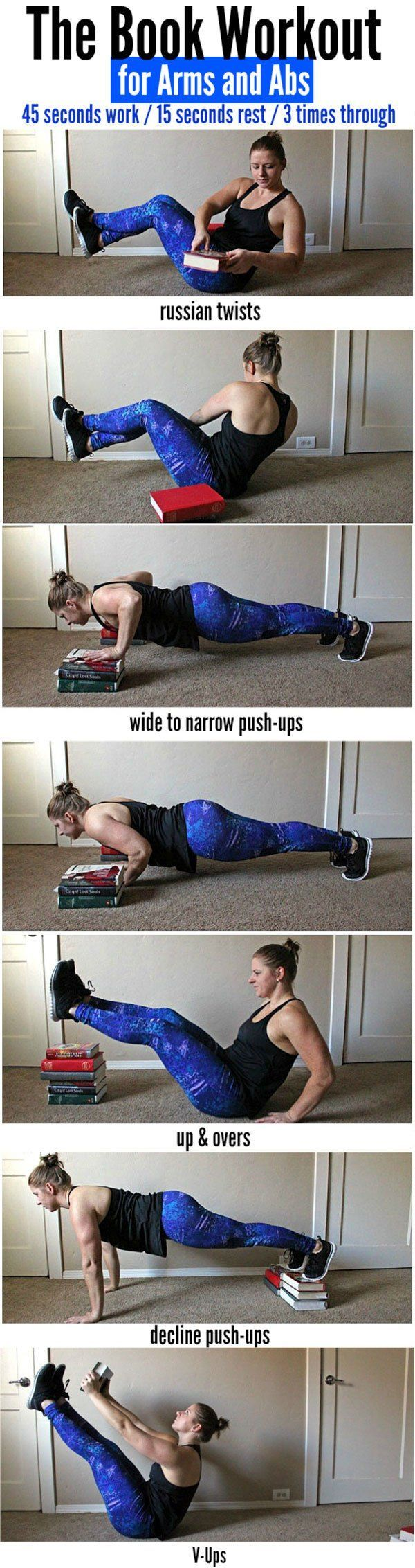 Arms & Abs Workout Using Books