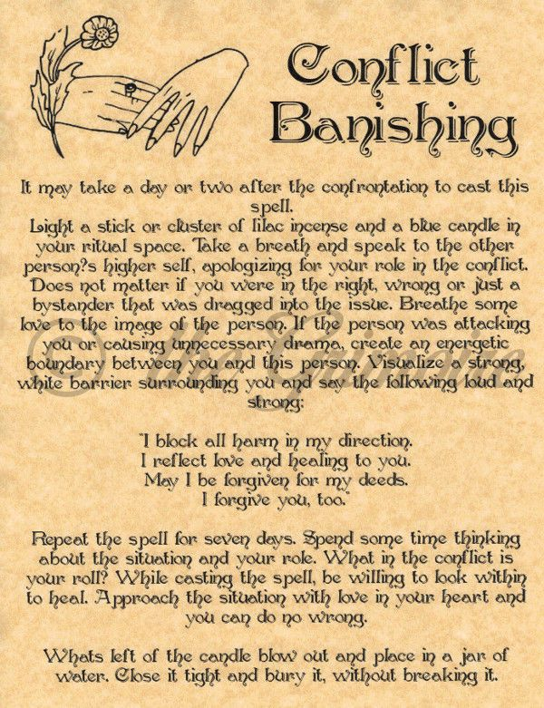 Conflict Banishing Spell, Book of Shadows Page, BOS Pages, Real Wiccan Spell in Collectibles, Religion & Spirituality, Wicca & Paganism | eBay
