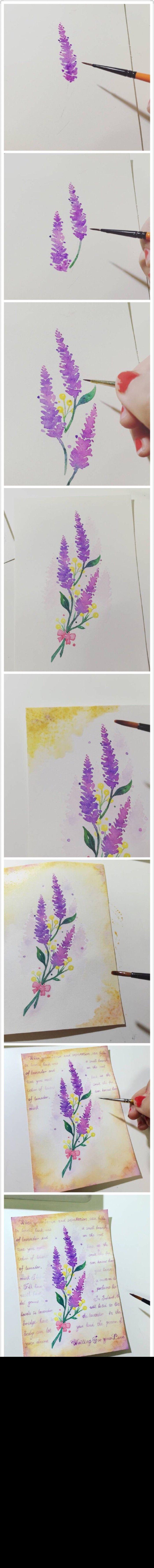 || Watercolor purple flower ||