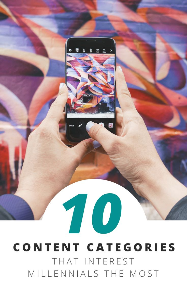 The top 10 content categories to engage Millennials. By identifying which content categories are most interesting to Millennials, you can maximize your content efforts.       Hotel advertising   Hotel promotion   Hotel campaign   Hotel communication   Hot