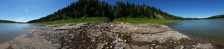 Spring dumping into Saskatchewan River