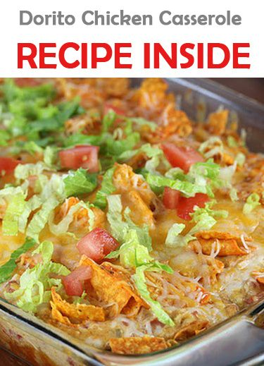 Corn chips chicken casserole (This is way better with regular corn chips than with doritos!)