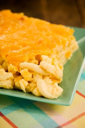 The Lady's Cheesy Mac from Paula Deen.  Love to make this for a crowd.  So easy and can me made ahead.  I almost always double the recipe.