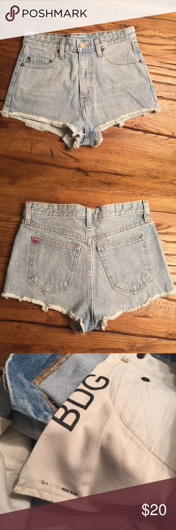 Urban Outfitters BDG denim shorts Urban Outfitters BDG super high rise cheeky shorts. 100% Cotton.  Like new.  Waist 25 BDG Shorts Jean Shorts