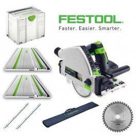 Festool TS 55 REBQ-Plus-FS invalzaag | 2x Liniaal FS1400/2 + FS-BAG foudraal | + 2e zaagblad | Toolmax Bosch Makita Dewalt