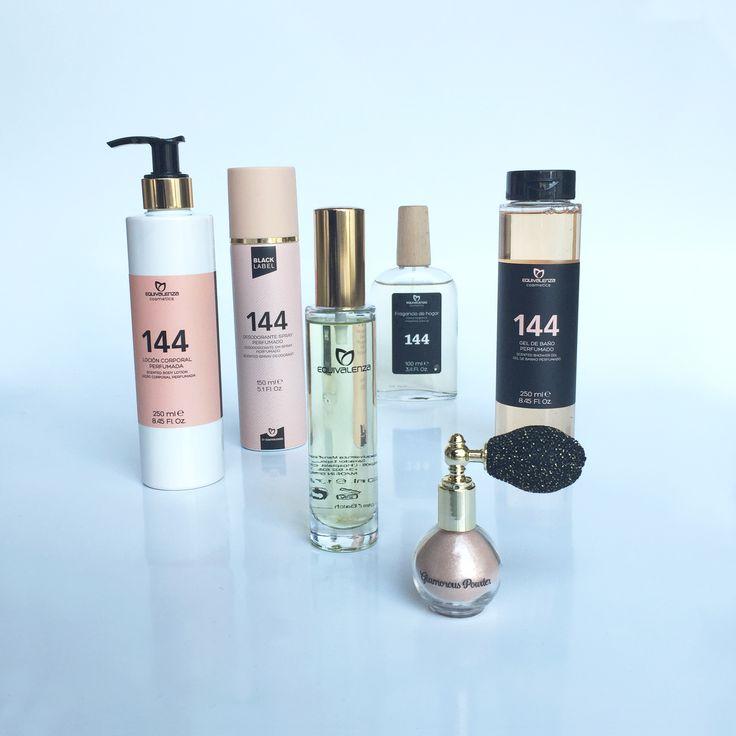 Si te gusta la fragancia  oriental especiada de nuestro perfume 144, ¡llévala contigo todo el día con la línea Black Label by Equivalenza!   #Equivalenza #Perfume #Cosmética #Aroma #BlackLabel