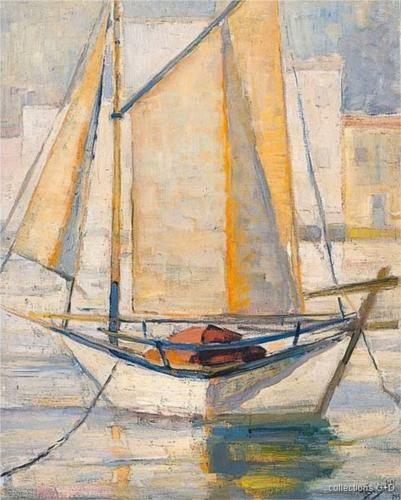 Boat with sails -  Periklis Vyzantios