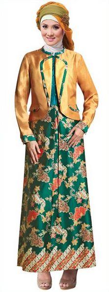 Foto Kebaya Muslim Masa Kini Biru Model Kebaya Muslim Modern Batik