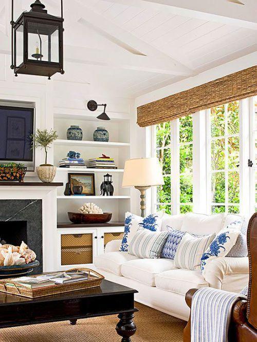 Coastal Living Room Filled With Coastal Details