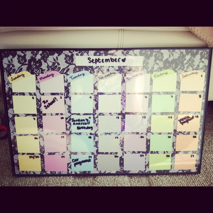 Diy Paint Strip Calendar : My diy calendar with paint chips creations