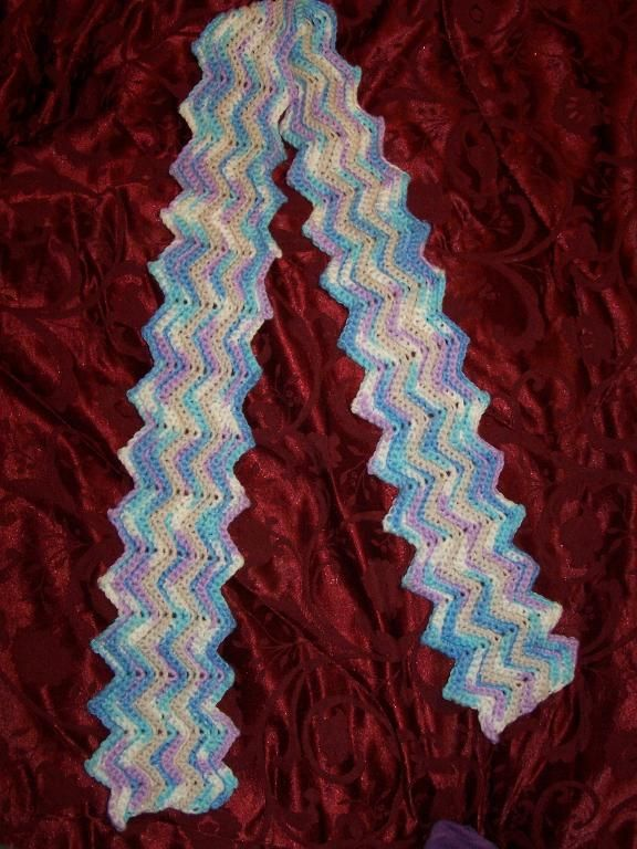 Crochet Scarf Patterns Zigzag : Zig Zag Scarf Crochet Pinterest