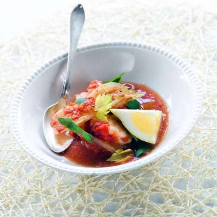 Fisksoppa med saffran och potatis - Mitt kök