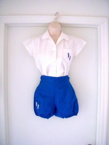 Vintage 40s 50s Gym Suit With Bloomers Mid Century
