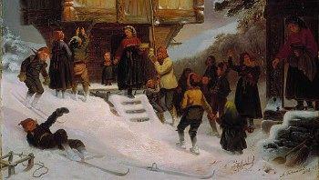 Jul i 1846, Adolph Tidemand.