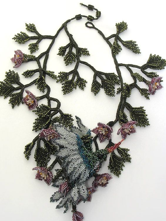 Bead art by Huib Petersen. Hummingbird