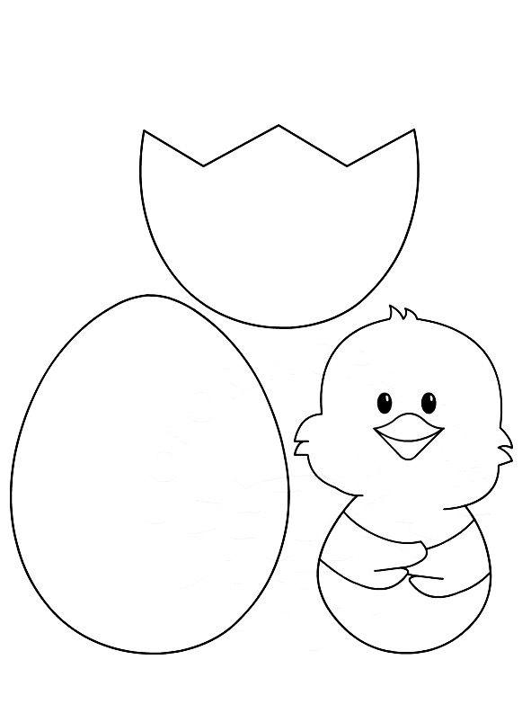 Шаблон открытки пасхальное яйцо