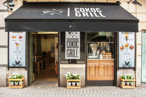 Versitility to stack logo vertically or horizontally. Cokoc Grill Take Away Restaurants by MABAA™, via Behance
