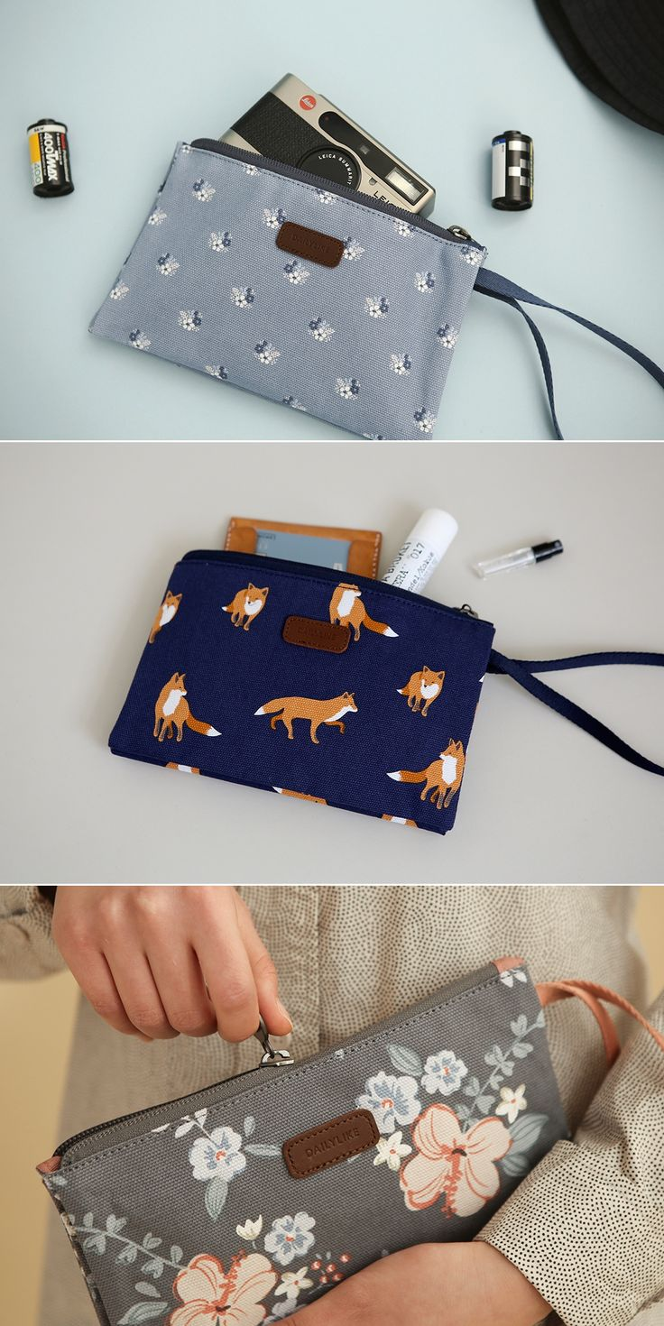 Let me introduce a good friend of mine! This ingenious folding wristlet holds every daily essentials in the 2 sections, so it goes everywhere I go with me!