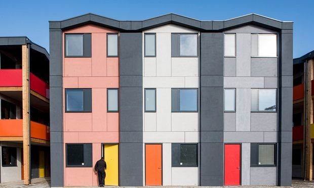 A world-renowned architecture firm designed affordable prefab homes for homeless youth in London.