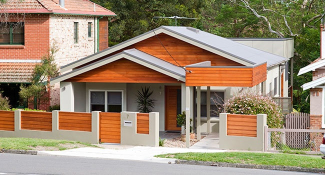 Oiled Timber Weatherboards - Chatswood House -  Bijl Architecture
