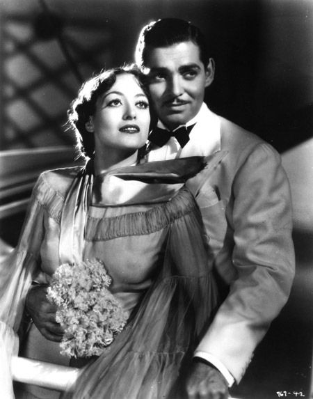 """Clark Gable & Joan Crawford in """"Chained"""" (1934) 