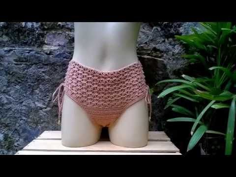 Como costurar forro em biquíni de crochê