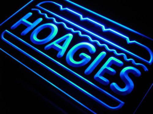 Hoagies Sandwich Cafe Food Neon Light Signs