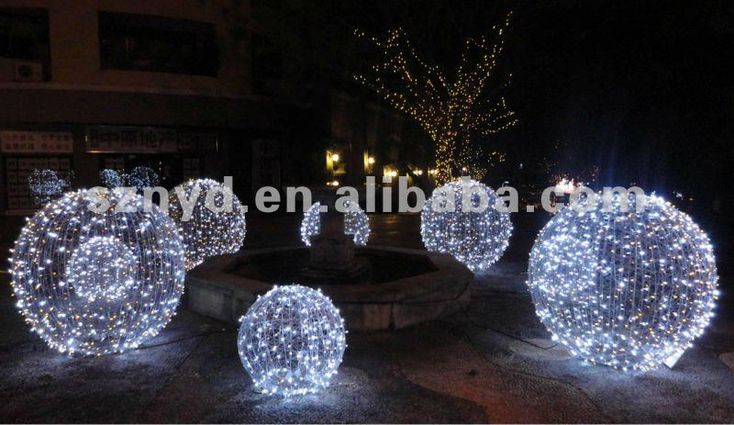 large christmas spheres - Google Search