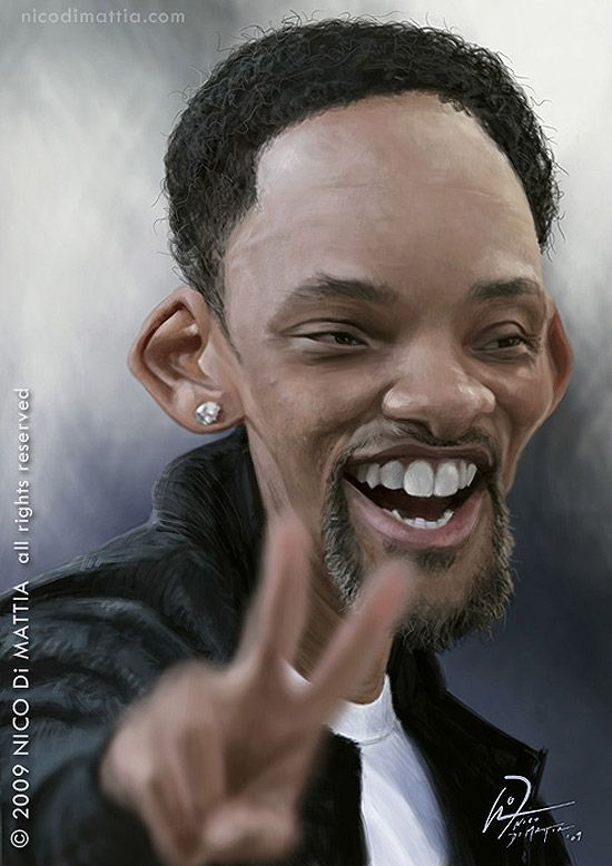 Caricatura de Will Smith.